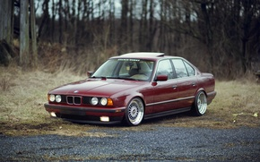 Picture bmw, bbs, E34, stance