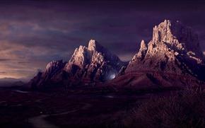 Wallpaper road, light, 151, Mountains