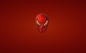 Picture red, minimalism, red, marvel, comic, comics, Spider-man, Spider-Man