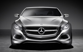 Picture Auto, concept, Mercedes Benz, The view from the front, f800