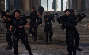 Picture Sylvester Stallone, Antonio Banderas, Jason Statham, Dolph Lundgren, Wesley Snipes, The Expendables 3, The expendables …