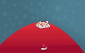 Picture eyes, gift, humor, beard, Santa Claus, Santa Claus