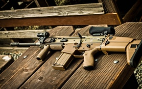 Picture weapons, tree, machine, optics, lies, foregrip, FN SCAR 17S