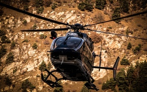 Picture flight, mountains, France, Alps, helicopter