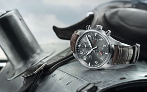 Picture the plane, watch, helmet, Spitfire, IWC, Chronograph