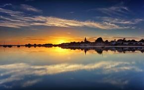 Picture water, sunset, reflection, England, England, West Sussex, West Sussex, Bosch, Chichester Harbour, Chichester Harbour, Bosham