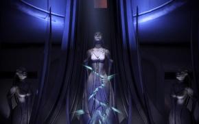 Picture Statue, Mass Effect 3, Azari, Cracked, Ancient culture