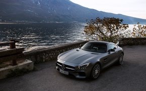 Picture AMG, water, Mercedes-benz, GT-S