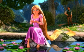 Picture Rapunzel, water lilies, Rapunzel: a tangled tale