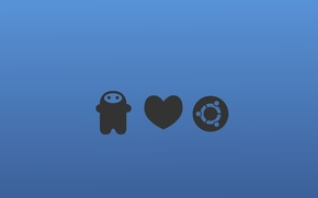 Picture linux, love, ubuntu