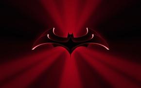 Wallpaper the film, silhouette, emblem, Batman