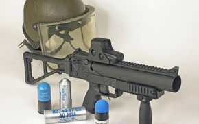 Wallpaper gun, weapon, police, EOTech, pearls, ammunition, grenade, 40mm, dissuasion weapon, B&T GL06, against law and ...