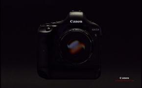 Picture Wallpaper, the camera, black background, Canon, 1Dx