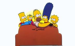 Picture cartoon, The Simpsons, Homer Simpson, Bart Simpson, tv series, Matt Groening, Maggie Simpson, Marge Simpson, …