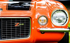 Picture machine, lights, the hood, grille, macro bumper