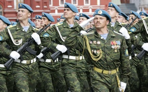 Wallpaper parade, Russia, red square, Airborne