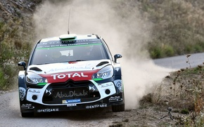 Picture Dust, Citroen, DS3, WRC, Rally, The front