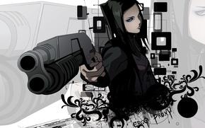 Picture weapons, background, black, ergo proxy, ergo proxy, re-l mayer