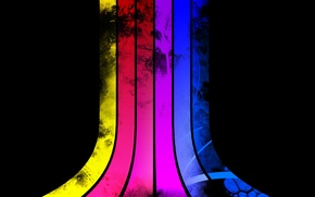 Wallpaper red, red, yellow, stripes, purple, blue, purple, pink, color, colors, pink, strips, blue, blue, yellow