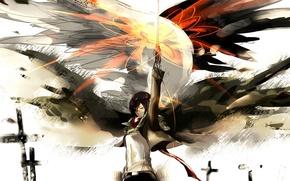 Picture Shingeki no Kyojin, Mikasa Ackerman, Attack Of The Titans
