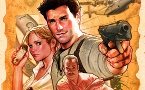 Picture Game, Sally, Naughty Dog, Nathan Drake, Victor Sullivan, Uncharted: Drake's Fortune, Elena Fisher