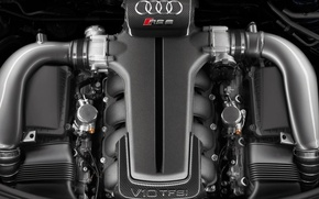 Wallpaper Audi, engine, V10 TFSI
