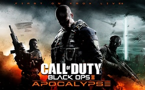 Picture gun, weapons, war, art, machine, soldiers, Apocalypse, Call of Duty Black Ops 2, Final Map …