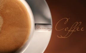 Picture foam, macro, background, the inscription, coffee, Cup, drink, morning coffee, espresso