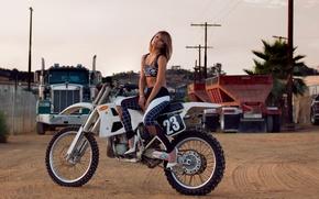 Picture motorcycle, photoshoot, Vanessa Hudgens, Flaunt