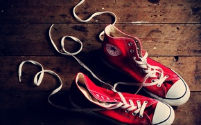 Picture photo, background, Wallpaper, sneakers, red, different, laces