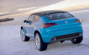 Picture the sky, clouds, mountains, Volkswagen, Concept A
