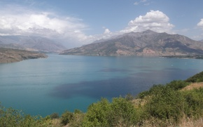 Picture clouds, landscape, mountains, lake