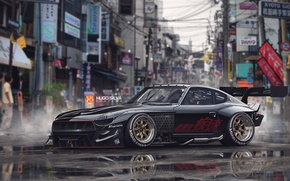 Picture Car, Front, Datsun, Graphics, 280z, 2015, Vehicular