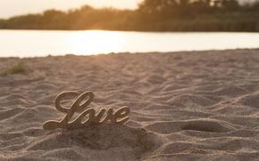 Picture sand, beach, love