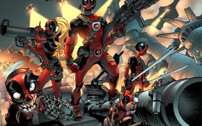 Wallpaper comics, art, deadpool, marvel comics, Wade Wilson