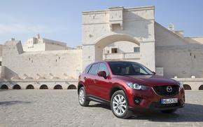 Picture red, castle, Auto, Mazda CX-5