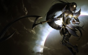 Picture Moon, Night, Diana, Blade, League of Legend