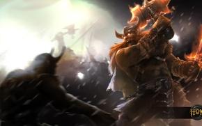 Picture hon, Viking, Heroes of Newerth, moba, Berzerker, Erik the Red