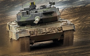 Picture Germany, tank, armor, Leopard 2A6, military equipment, tank