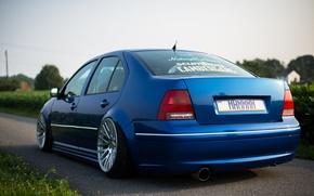 Picture car, blue, volkswagen, car, wallpapers, low, stens, stance. blue