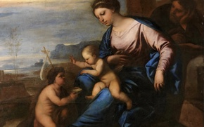Picture picture, mythology, Luca Giordano, The Holy Family with young John the Baptist