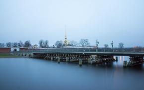 Picture bridge, river, Russia, Peter, Saint Petersburg, Neva, St. Petersburg