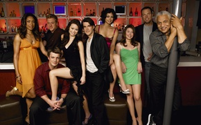 Picture Morena Baccarin, team, Firefly, actors, Nathan Fillion, Summer Glau, Firefly, Adam Baldwin, Gina Torres, Jewel …