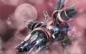 Picture girl, pink, final fantasy 13, final fantasy xiii, square enix, Vanille