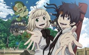 Picture tie, Anime, anime, Ao no Exorcist, Rin Okumura, blue exorcist, bezel, Kuro, Nii-chan, NII-Chan, KURO, …