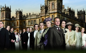 Picture collage, the series, actors, drama, characters, Downton Abbey