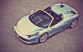 Picture Ferrari, 458, Italia, Spider, A Kahn Design, Top View of the Front