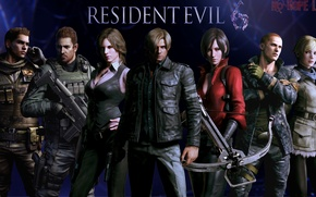 Picture Resident Evil, Resident Evil 6, Leon Scott Kennedy, Helena Harper, Chris Redfield, Sherry Birkin, Ada …