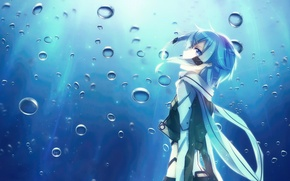 Picture Anime, Sword Art Online, SAO, shino wand, Sinon, water.