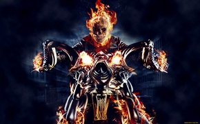 Picture Ghost rider, flame, chertyaka